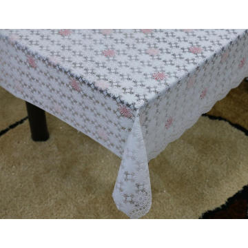 geometric Printed pvc lace tablecloth by roll